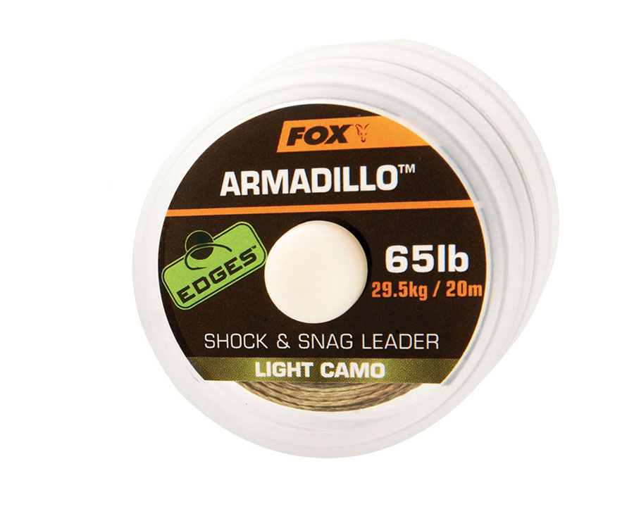 Шок лидер FOX Armadillo Light Camo 65lb