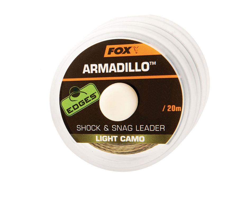 Шок лидер FOX Armadillo Light Camo 45lb