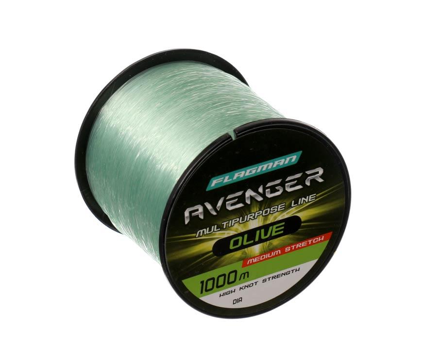 Купить Леска Flagman Avenger Olive Line 1000м 0.30мм