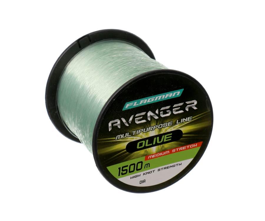 Леска Flagman Avenger Olive Line 1500м 0.25мм  - купить со скидкой