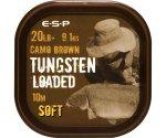 Поводковый материал Esp Tungsten Loaded 20 lb Camo Soft