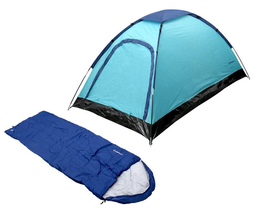 Набор Flagman Палатка Halt Mono + Спальный мешок Blue