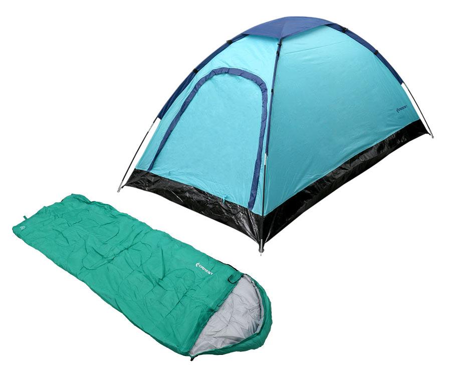 Набор Flagman Палатка Halt Mono + Спальный мешок Green