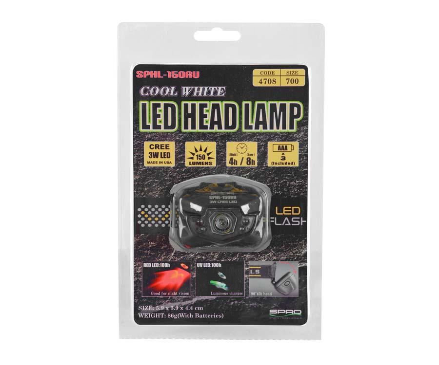 Фонарик налобный SPRO Led Head Lamp SPHL 150RU