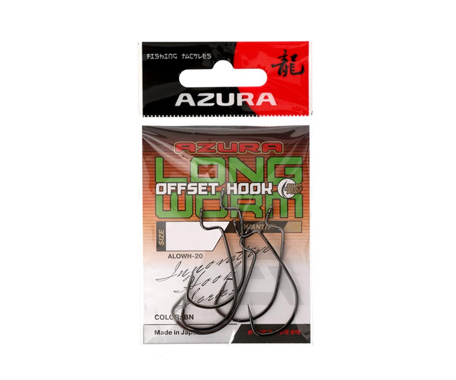 Крючки Azura Long Offset Worm Hook №4/0