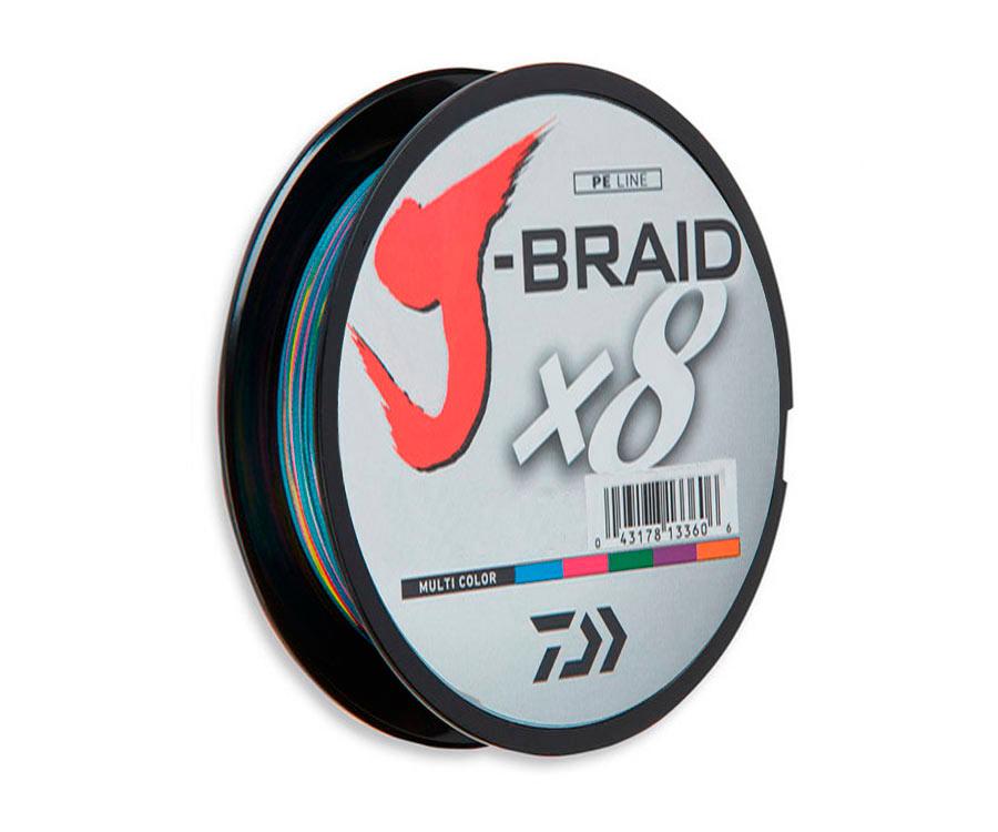 Шнур Daiwa J-Braid x8 Multicolor 300м 0.42мм