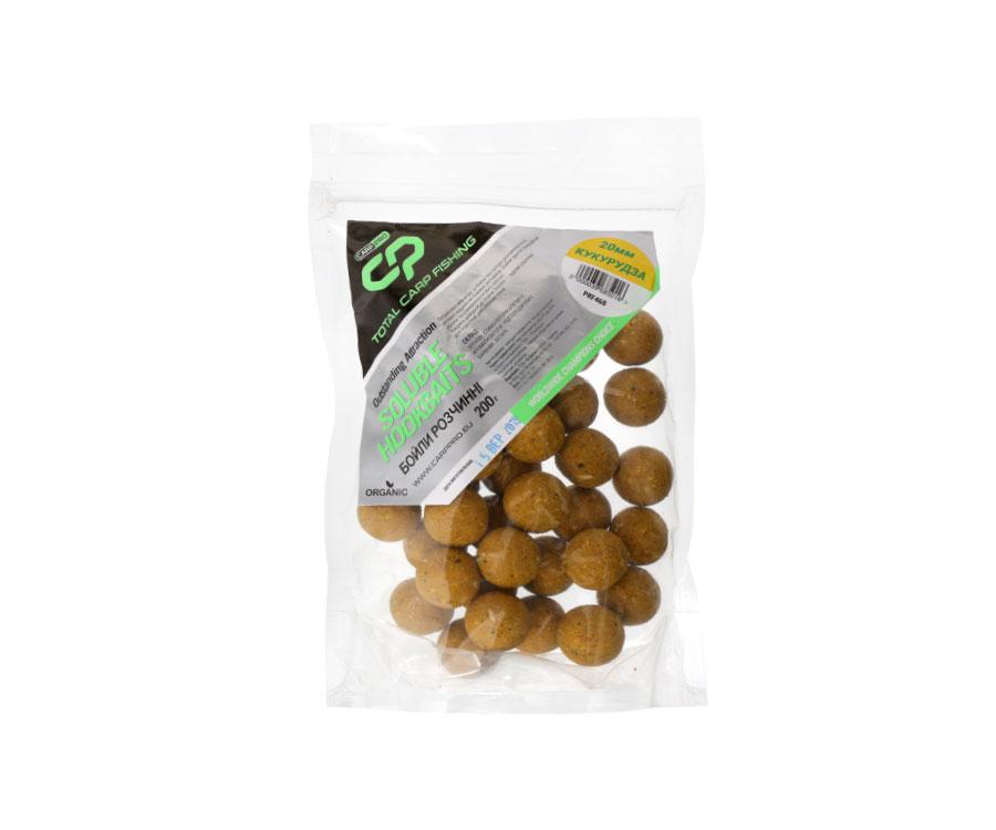 Бойлы Carp Pro Soluble Hookbaits 200г 20мм Кукуруза