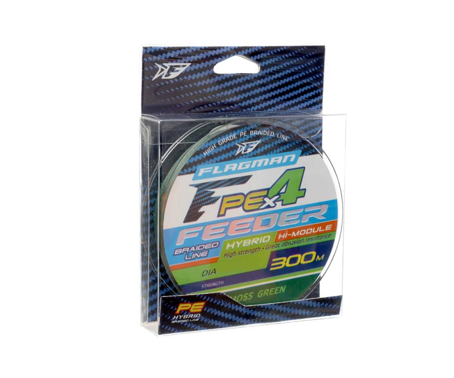 Шнур Flagman PE Hybrid X4 Feeder Moss Green 300м 0.12мм