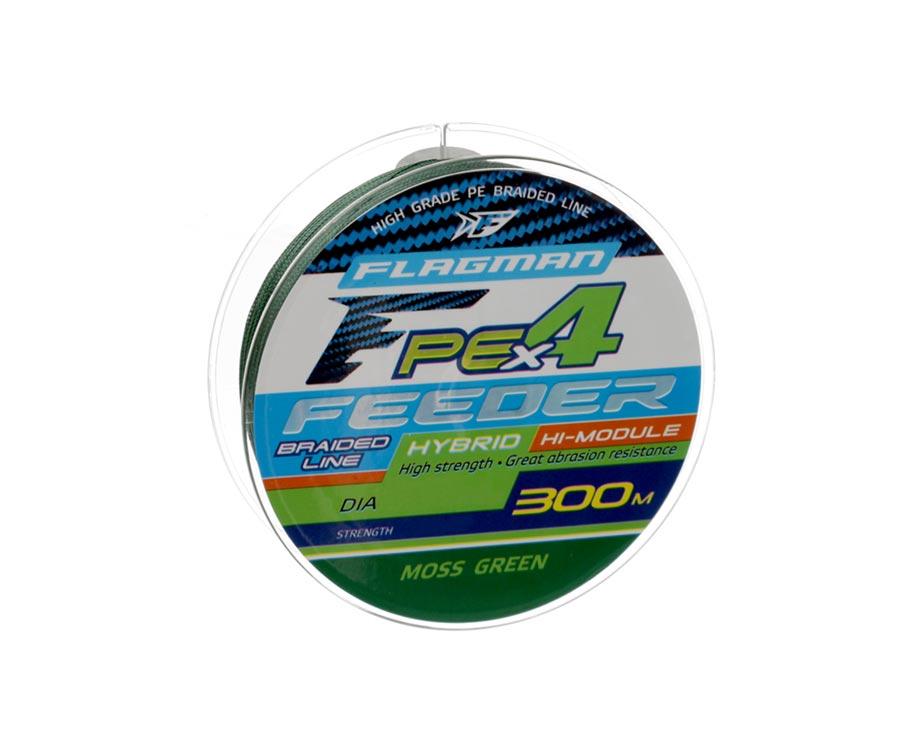 Шнур Flagman PE Hybrid X4 Feeder Moss Green 300м 0.16мм