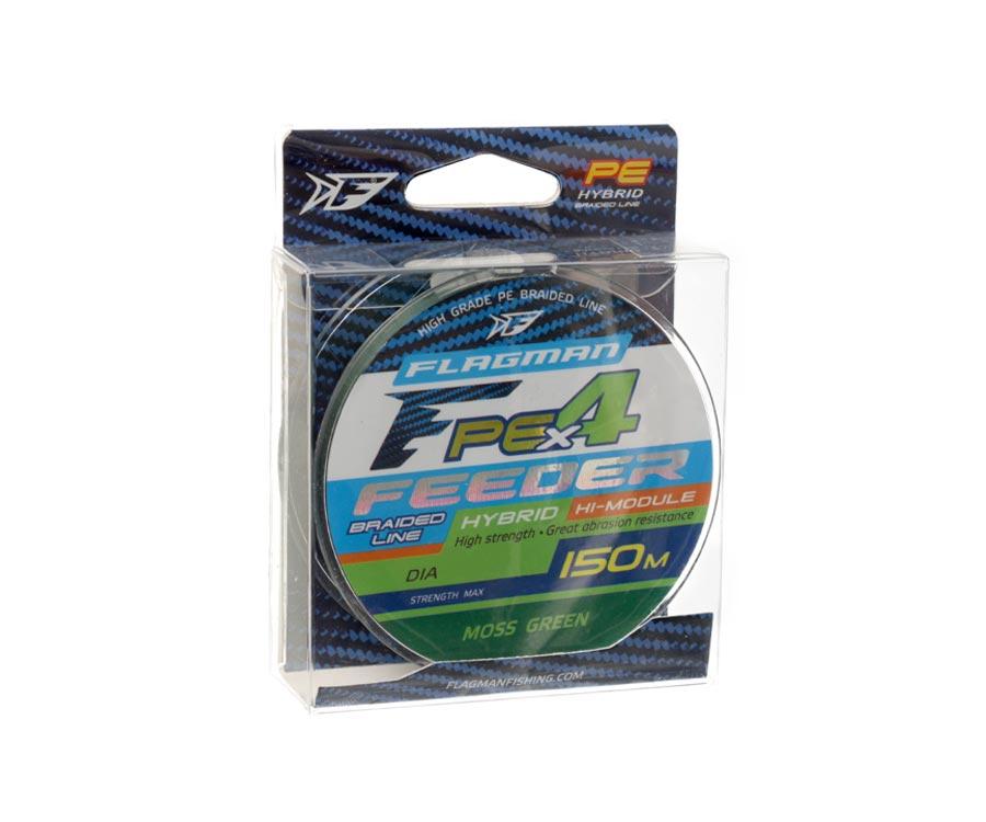 Шнур Flagman PE Hybrid X4 Feeder Moss Green 150м 0.10мм