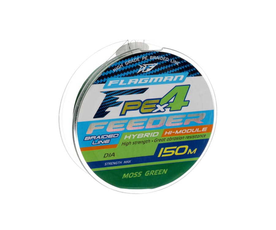 Шнур Flagman PE Hybrid X4 Feeder Moss Green 150м 0.14мм