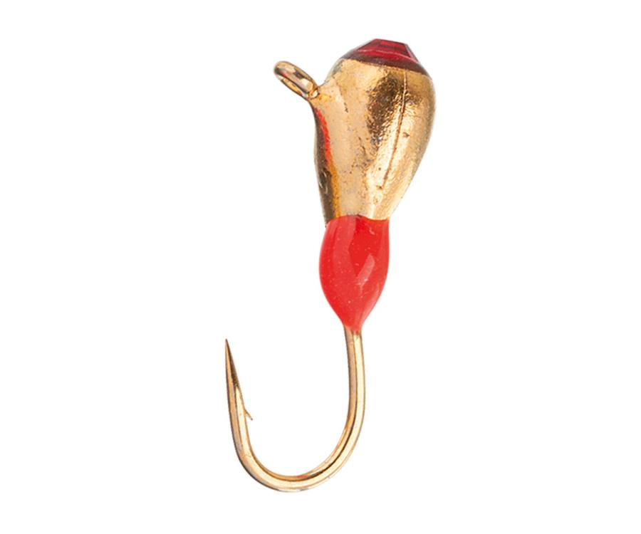Мормышка вольфрамовая Flagman Крапля с ушком эребус камень + подмазка фосфор d=3 золото