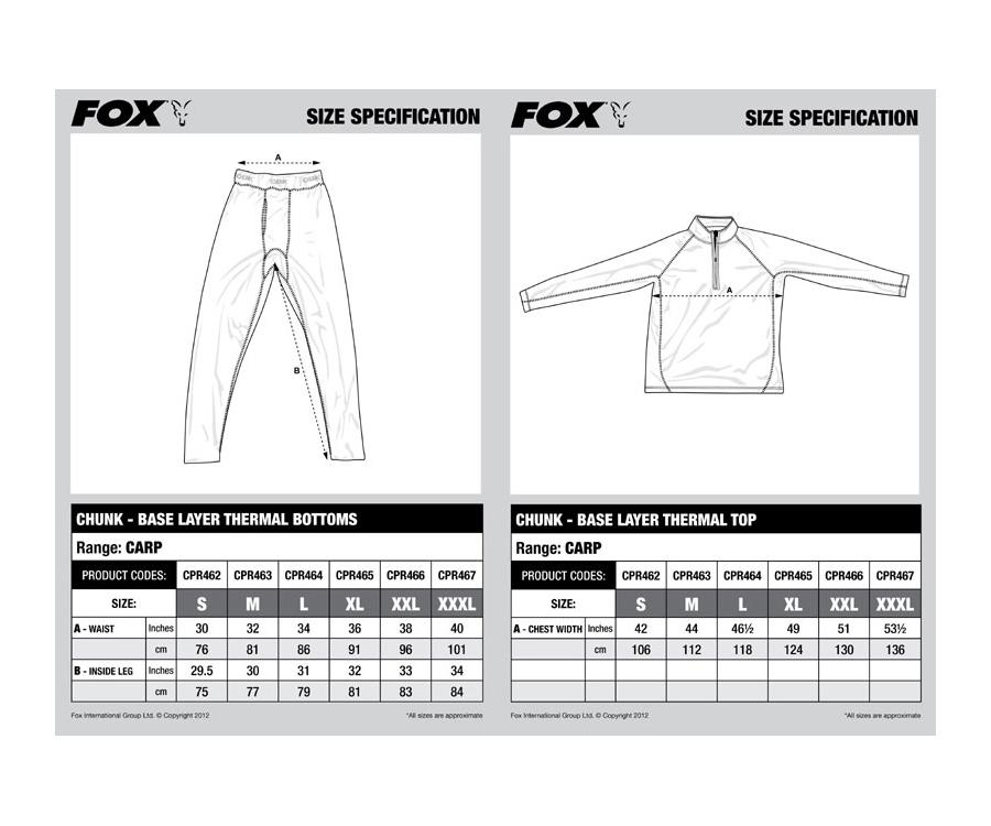 Костюм FOX Chunk Base Layer S