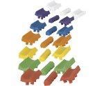 Разноцветные вставки держателя для удилища JRC X-Lite Rod-Bloxx Large