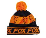 Шапка FOX Black/Orange Lined Bobble