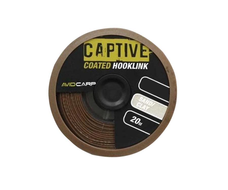 avid carp Поводковий матеріал Avid Carp Captive Coated Hooklink Sand/Clay 35lb