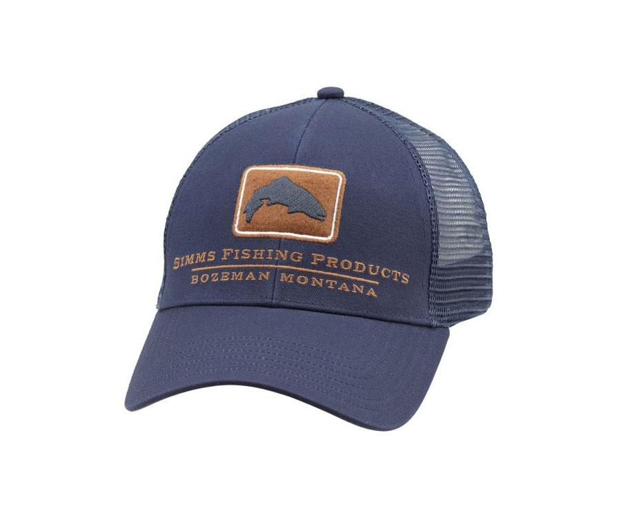 Купить Головные уборы, Кепка Simms Trout Icon Trucker ink blue