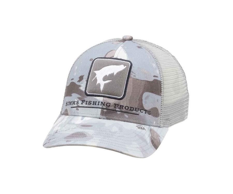 Купить Головные уборы, Кепка Simms Tarpon Icon Trucker Cloud Camo grey