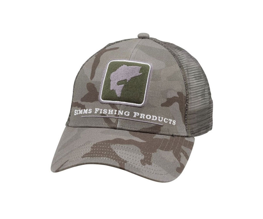 Купить Головные уборы, Кепка Simms Bass Icon Trucker Pico Camo Mineral