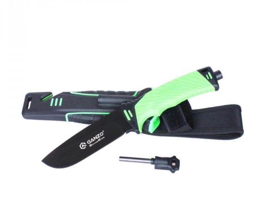 Нож туристический Ganzo G8012-LG зеленый