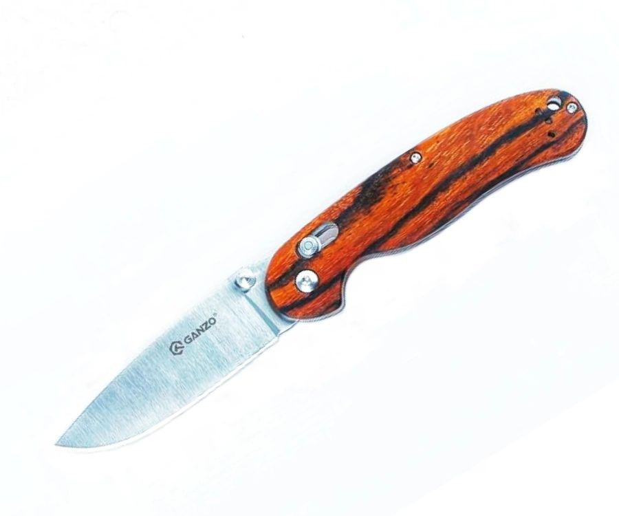 Нож складной Ganzo G727M-W1 дерево