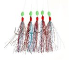 Оснастка морская Fladen Glitter Feather Rig Red Turquoise №4