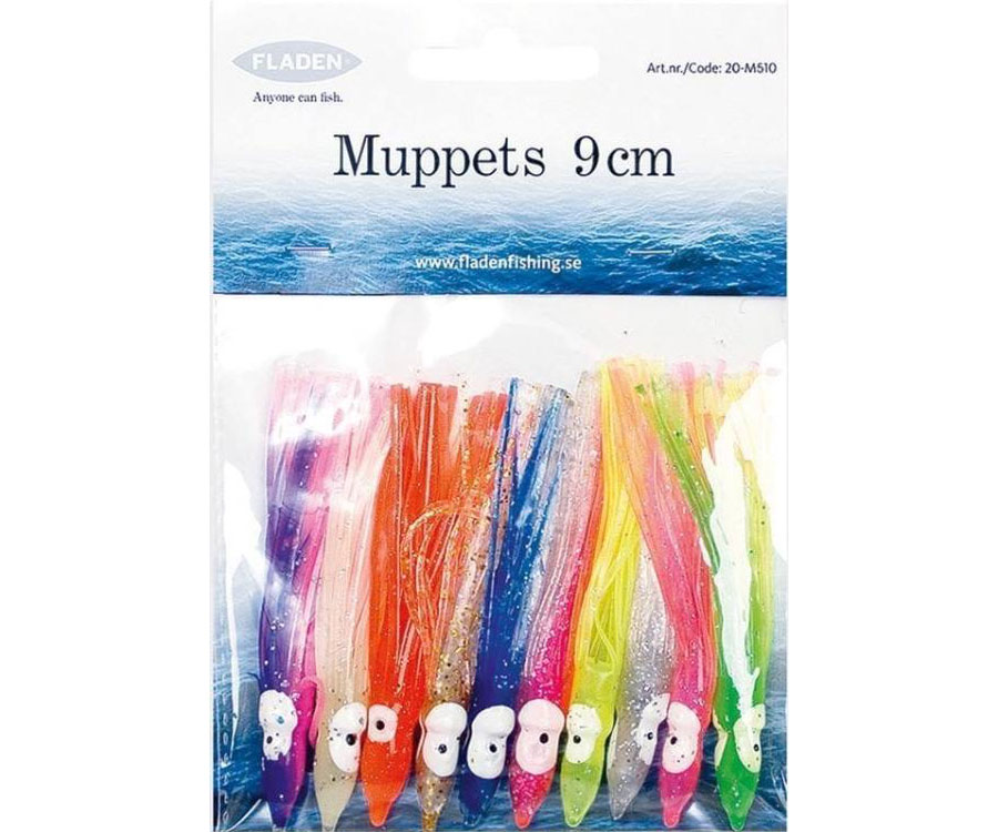 Купить Силиконовые приманки, Октопус Fladen Octopus Muppets 9см