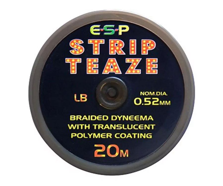 Поводковый материал ESP Strip Teaze 20lb brown