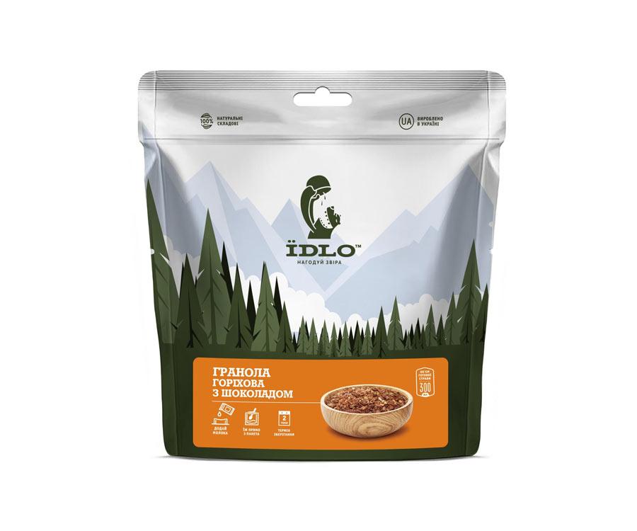 Гранола ореховая ЇDLO с шоколадом 100г