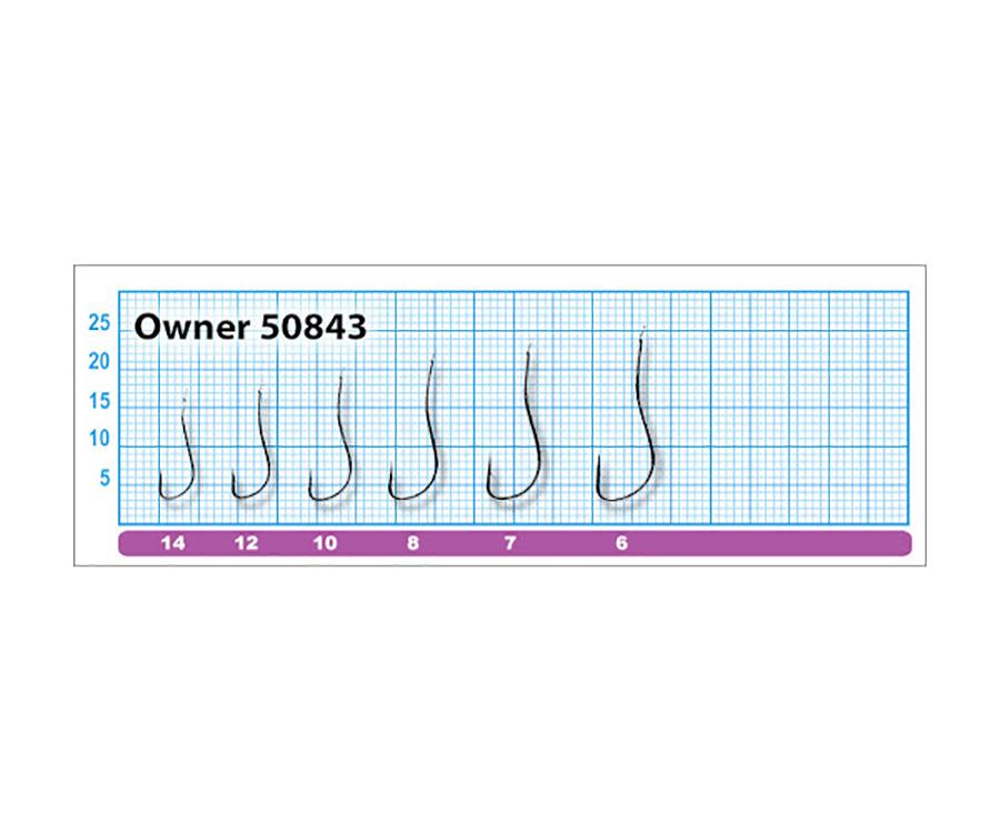 Крючки Owner 50843 Ryusen BH №8