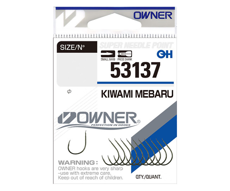 Крючки Owner 53137 Kiwami Mebaru №8 Green