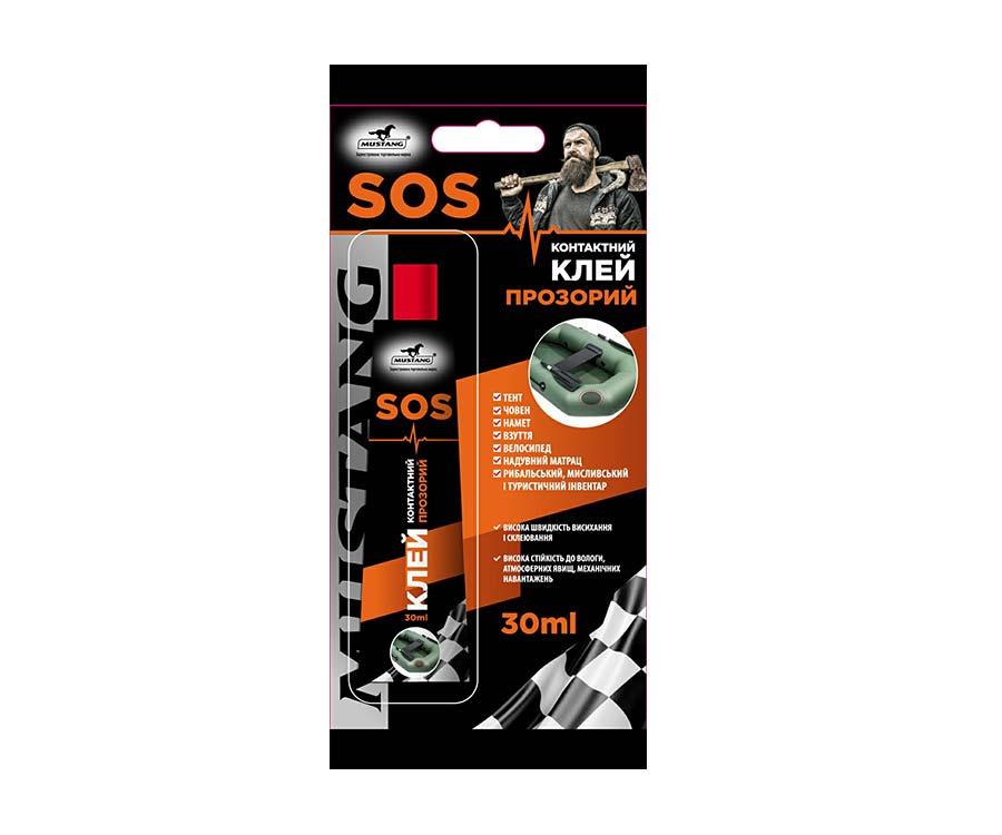 Контактный клей Mustang SOS Блистер 30мл
