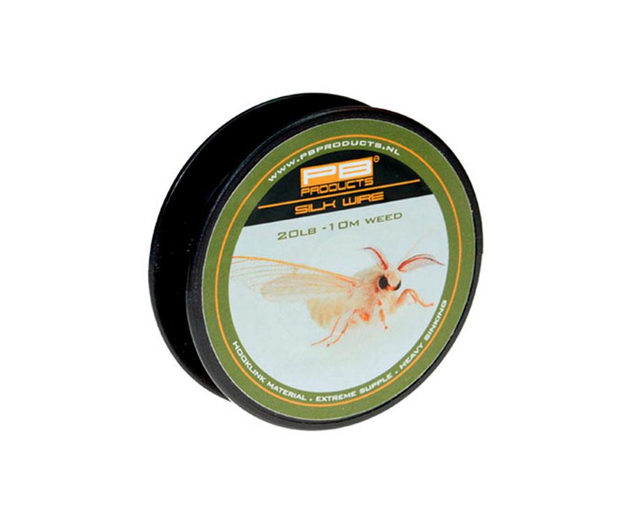 Поводковый материал PB Products Silk Wire 20lb Weed 10м