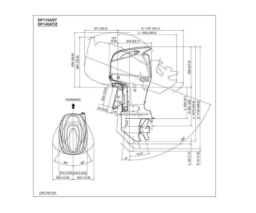 Лодочный мотор Suzuki DF140ATL